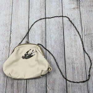 Darling Crossbody Clutch Purse Metal Bird Chain